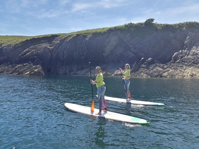 Paddle boarding in Pembrokeshire | Learn To Surf Wales
